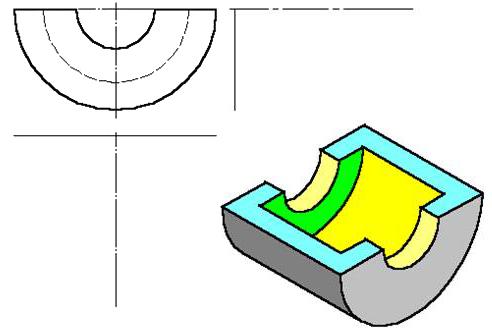 题目:分析三视图中平面立体的