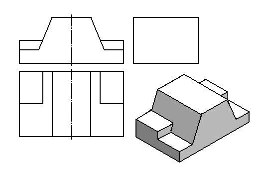 三视图画立体图;